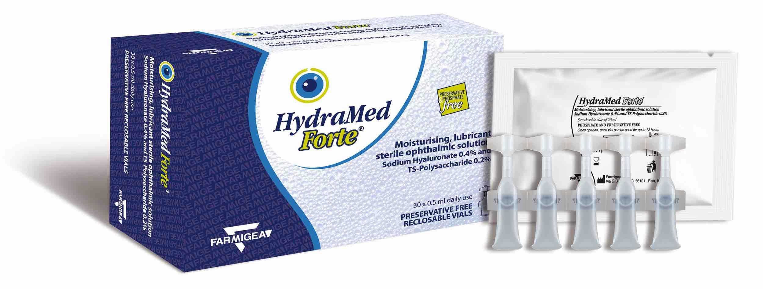 Scatola del collirio HydraMed Forte